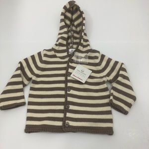NWT Hanna Andersson stripe hoodie sweater size 80